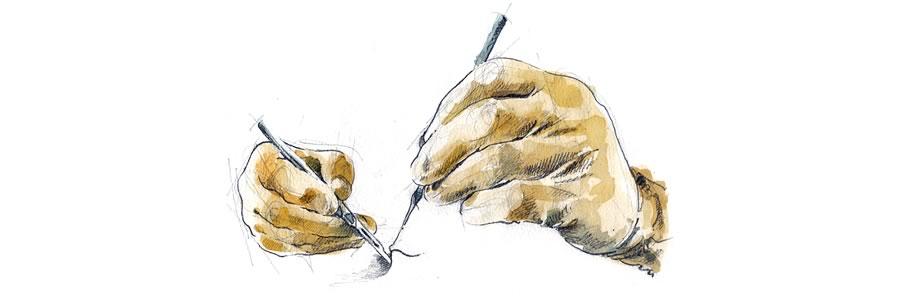 Working Hands Logo - Illustration by Donald Sammut